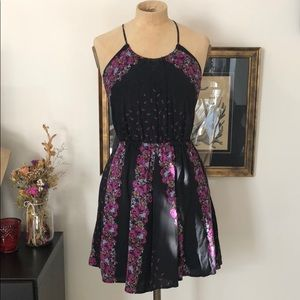 Free People patchwork skater dress